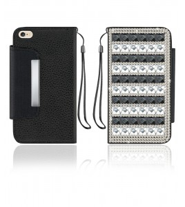 Diamond Wallet iphone 6/6S - Black