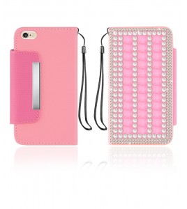 Diamond Wallet iphone 6/6S - Pink