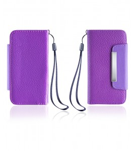 Detachable Lychee PU wallet iPhone 6/6S - Purple