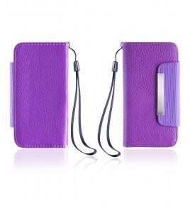 Detachable Lychee PU wallet iPhone 6/6S - Purple