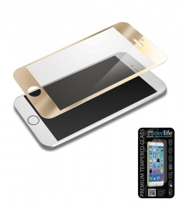 owllife Premium Temperes Glass Colors iPhone 6/6S - Gold
