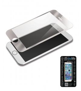 owllife Premium Temperes Glass Colors iPhone 6/6S - Silver
