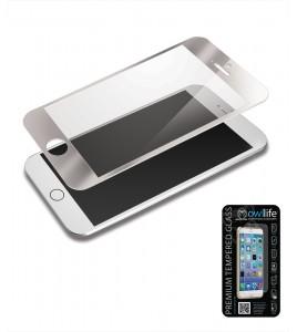 owllife Premium Temperes Glass Colors iPhone 6 Plus/6S Plus - Silver