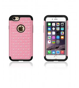 SiliTough diamond case iPhone 6/6S - Pink
