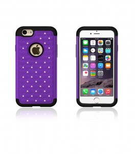 SiliTough diamond case iPhone 6/6S - Purple