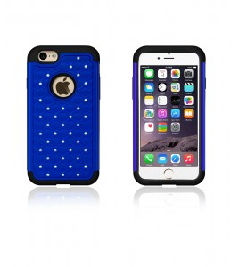 SiliTough diamond case iPhone 6/6S - Blue