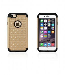 SiliTough diamond case iPhone 6/6S - Gold