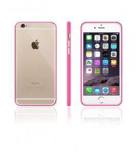 Bumper TPU Clear case iphone 6/6S - Pink