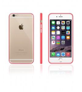 Bumper TPU Clear case iphone 6/6S - Red