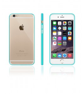 Bumper TPU Clear case iphone 6/6S - Mint